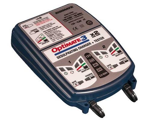 Зарядное устройство ™OptiMate 3 Dual Bank TM450 (2x0,8A, 12V)