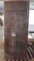 Брашированная дверь для бани из сосны.