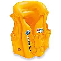 Детский надувной жилет для плавания 50х47 см, 3-6 лет, Intex 58660, фото 1