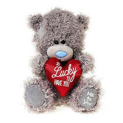 """Мягкая игрушка """"Me to You"""" Мишка Тедди с мягким сердцем, 18 см"""