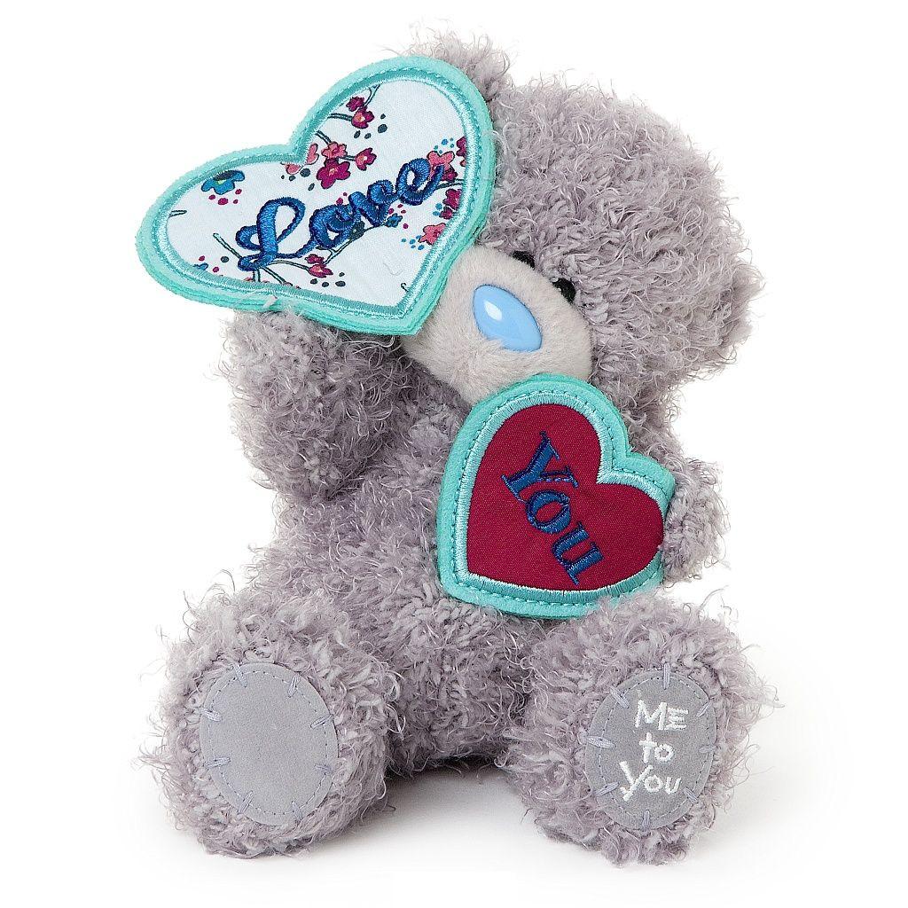 "Мягкая игрушка ""Me to You"" Мишка Тедди с сердцечками, 18 см"