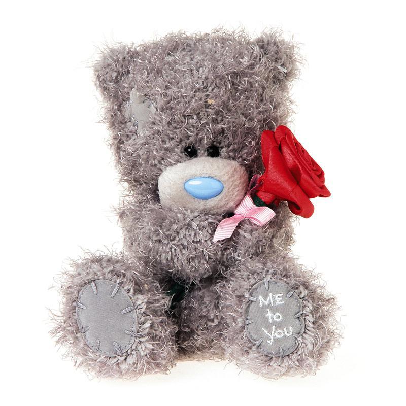 "Мягкая игрушка ""Me to You"" Мишка Тедди с розой, 18 см"