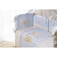 Комплект в кроватку Perina Венеция Лапушки 4 предмета голубой