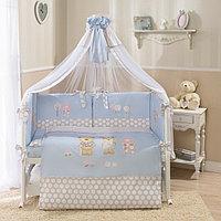 Комплект в кроватку Perina Венеция Лапушки 7 предметов Голубой
