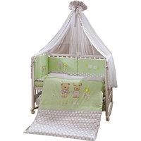 Комплект в кроватку Perina Венеция Лапушки 7 предметов Салатовый