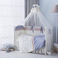 Комплект в кроватку Perina Котята 6 предметов Лазурь