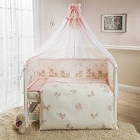 Комплект в кроватку Perina Тиффани Неженка 7 предметов розовый