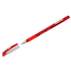 """Ручка шариковая Berlingo """"xGold"""", красная, 0,7мм, игольчатый стержень, грип"""