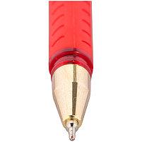 """Ручка шариковая Berlingo """"xGold"""", красная, 0,7мм, игольчатый стержень, грип, фото 2"""