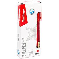 """Ручка шариковая Berlingo """"xGold"""", красная, 0,7мм, игольчатый стержень, грип, фото 3"""