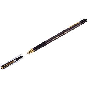 """Ручка шариковая Berlingo """"xGold"""" черная, 0,7мм, игольчатый стержень, грип"""