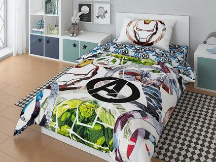 """Комплект постельного белья, Marvel """"Команда А"""""""