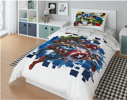 """Комплект постельного белья, Marvel """"Капитан Америка"""""""