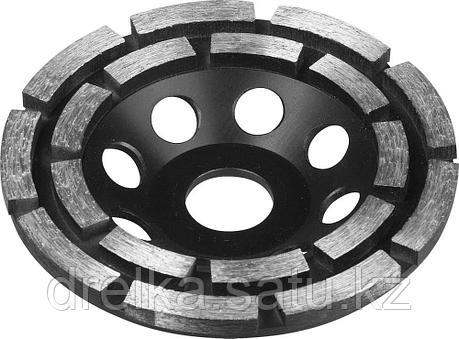 Чашка ЗУБР алмазная сегментная двухрядная, высота 22.2мм, 115 мм., фото 2