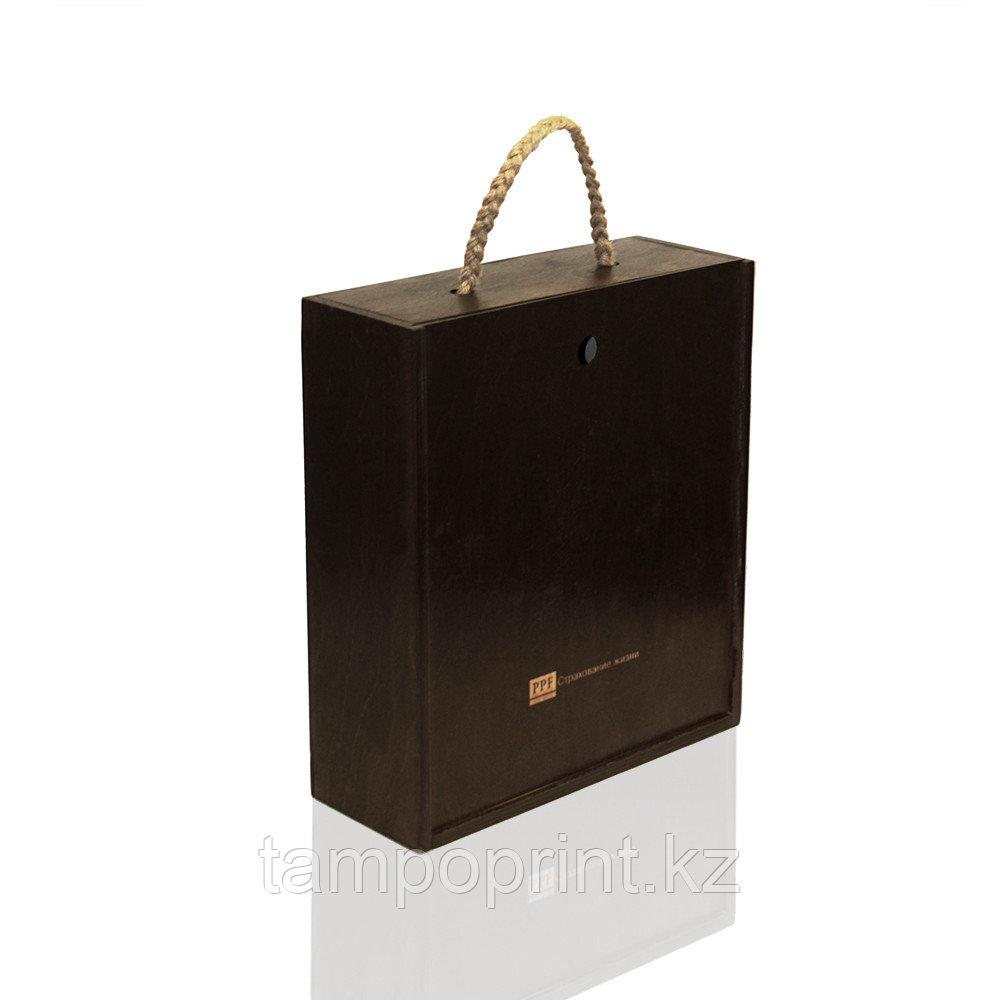 U-PK086 Деревянная упаковка бук натуральный