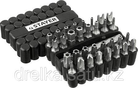 Набор, STAYER Master: Биты СПЕЦИАЛЬНЫЕ Cr-V, с магнитным адаптером, в ударопрочном держателе, 33 предмета, фото 2