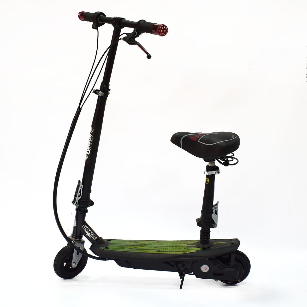 Электросамокат с сиденьем и надувным передним колесом EL-Sport Charger