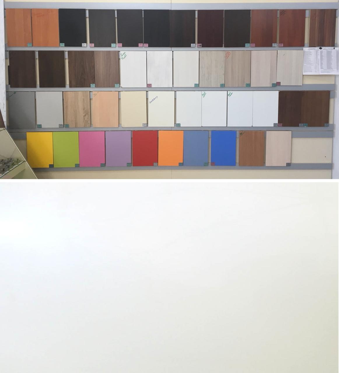ЛДСП Белый глянц (цена с распилом)  2750*1830*16, 2500*1830*16  мм