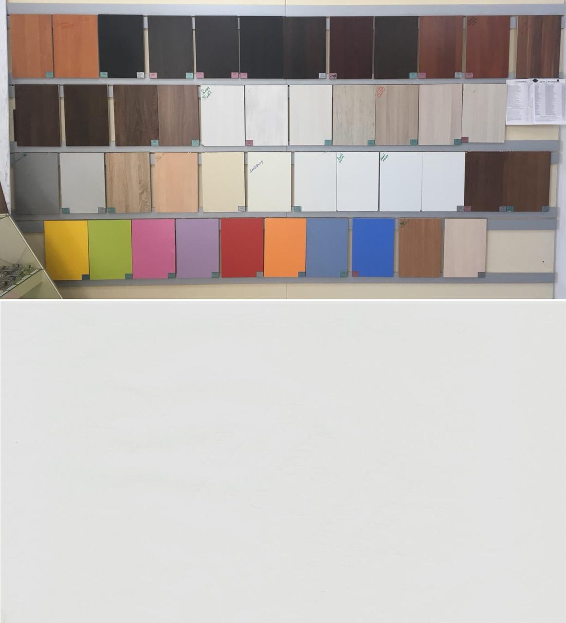ЛДСП Белый молет (цена с распилом)  2750*1830*16, 2500*1830*16  мм