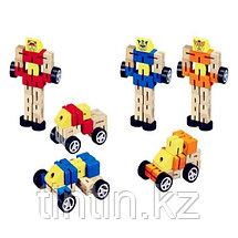 Деревянный робот-трансформер, фото 3