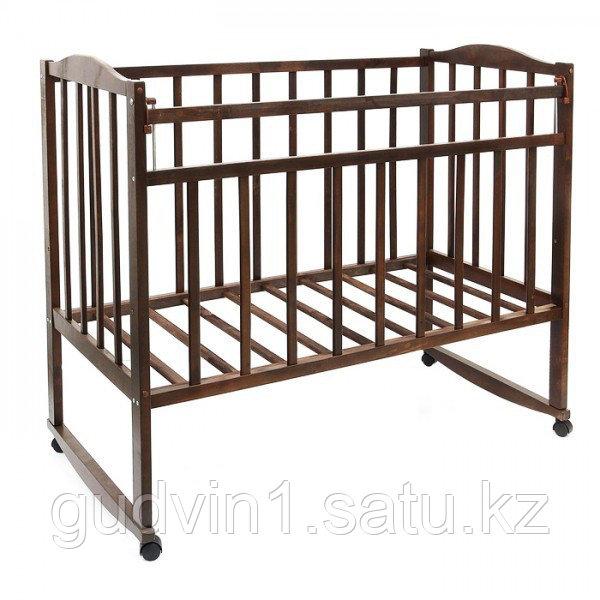 Детская кровать «MAGICO»,колесо+качалка(орех,береза)