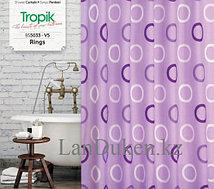 Водонепроницаемая тканевая шторка для ванной Tropik 180*200 фиолетовая