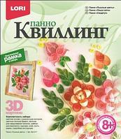 """Квиллинг Панно """"Пышные цветы"""""""