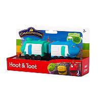 Chuggington набор паровозик с вагончиком Хут и Тут