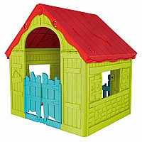 Игровой домик Keter Foldable Playhouse складной Бежевый-красный
