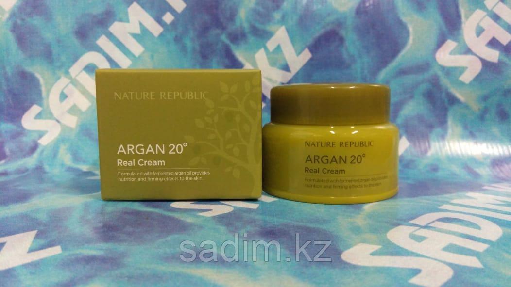 Nature Republic Argan 20 Real Cream - Питательный крем с маслом арганы