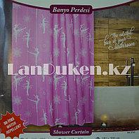 Водонепроницаемая тканевая шторка для ванной Jackline 180x200 см (Балерины)