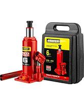 Домкрат гидравлический бутылочный STAYER RED FORCE, 43160-6-K_z01, серия PROFESSIONAL, 6 т, 216-413 мм, кейс, фото 2