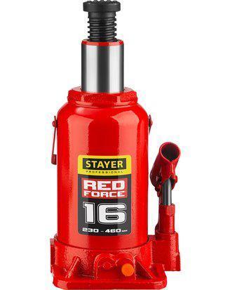 Домкрат гидравлический бутылочный STAYER RED FORCE, 43160-16_z01, серия PROFESSIONAL, 16 т, 230-460 мм, фото 2
