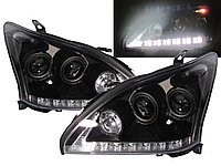 Передние фары Lexus RX300 RX330 R350 Angel Eyes 2004 - 09 Black, фото 1