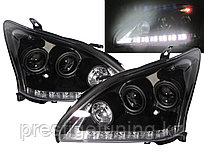 Передние фары Lexus RX300 RX330 R350 Angel Eyes 2004 - 09 Black