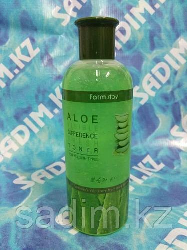FarmStay Visible Difference White Toner (Aloe) - Увлажняющий и осветляющий тонер с экстрактом алоэ