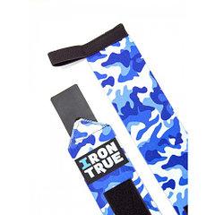 Бинт кистевой 50cm IRONTRUE (Синий камуфляж)