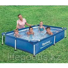 Каркасный бассейн прямоугольный 221х150х43 см, Bestway 56401, фото 2