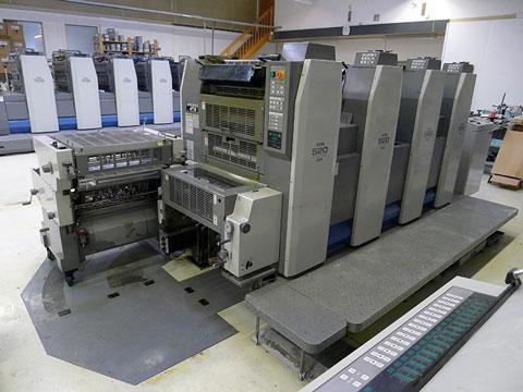4-красочная офсетная печатная машина Ryobi 524 GX,2008 г.