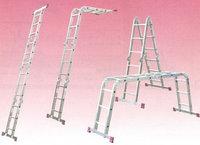 Алюминиевая лестница шарнирная МULTIMATIC 4х3 S Н=3,55/4,70м, фото 1