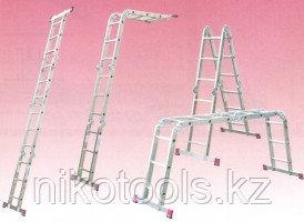 Алюминиевая лестница шарнирная МULTIMATIC 4х3 S Н=3,55/4,70м