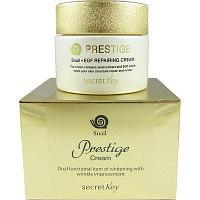 Secret Key Prestige Snail Repairing Cream-Омолаживающий улиточный крем(премиум)
