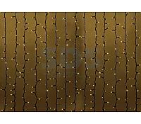 """Гирлянда """"Светодиодный Дождь"""" 2х1,5м, постоянное свечение, черный провод, 230 В, диоды ТЁПЛО-БЕЛЫЕ, 360 LED"""