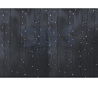 """Гирлянда """"Светодиодный Дождь"""" 2х3м, постоянное свечение, черный провод, 230 В, диоды БЕЛЫЕ, 760 LED"""