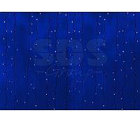 """Гирлянда """"Светодиодный Дождь"""" 2х3м, постоянное свечение,черный провод, 230 В, диоды СИНИЕ, 760 LED"""
