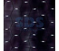 """Гирлянда """"Сеть"""" 2x1,5м, черный КАУЧУК, 288 LED Белые"""