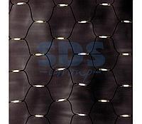 """Гирлянда """"Сеть"""" 2x1,5м, черный КАУЧУК, 288 LED Тепло-Белые"""