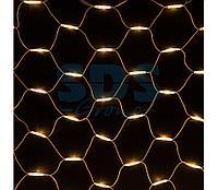 """Гирлянда """"Сеть"""" 2x3м, белый КАУЧУК, 432 LED Тепло-белые"""
