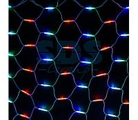 """Гирлянда """"Сеть"""" 2x3м, белый КАУЧУК, 432 LED Мультиколор"""