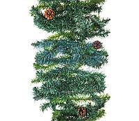 Еловый шлейф 2,7 м с шишками, объем 41 см